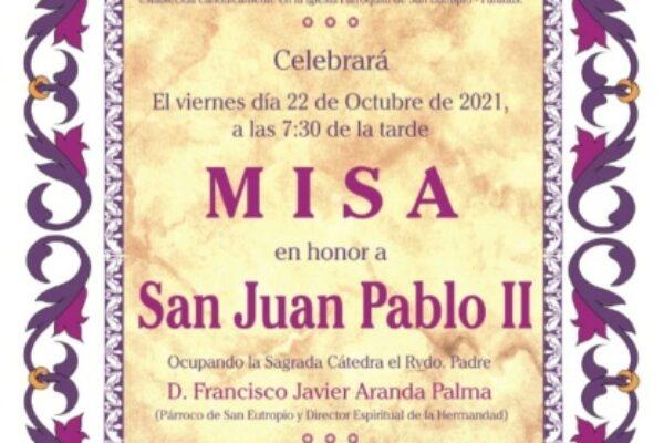 Misa en honor a San Juan Pablo